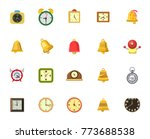 alarm icons set | Shutterstock .eps vector #773688538