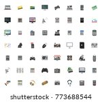 electronics icons set | Shutterstock .eps vector #773688544