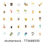 drinks icons set | Shutterstock .eps vector #773688550