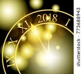 2018 new year shining banner... | Shutterstock .eps vector #773688943