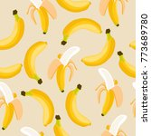banana colorful seamless...   Shutterstock .eps vector #773689780
