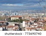 aerial view of  ulus ankara...   Shutterstock . vector #773690740