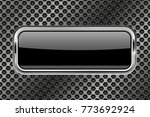 metal perforated background... | Shutterstock .eps vector #773692924