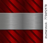 metal background. iron brushed... | Shutterstock .eps vector #773692978