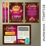vector casino flyer  cartoon... | Shutterstock .eps vector #773697118