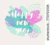 happy new year banner. vector... | Shutterstock .eps vector #773701534