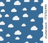 seamless clouds texture  white...   Shutterstock .eps vector #773701990