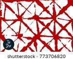 shibori tie dye vector summer... | Shutterstock .eps vector #773706820