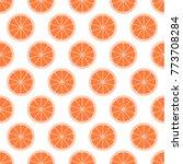 orange citrus background of cut ...   Shutterstock .eps vector #773708284