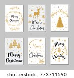 new year and merry christmas... | Shutterstock .eps vector #773711590