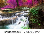 amazing waterfall at colorful... | Shutterstock . vector #773712490