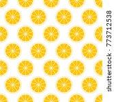 orange citrus background of cut ...   Shutterstock .eps vector #773712538