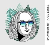 hipster classical portrait of... | Shutterstock .eps vector #773712568