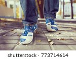 man jeans and sneaker shoes | Shutterstock . vector #773714614