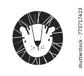 hand drawn lion. nursery poster ... | Shutterstock .eps vector #773717623