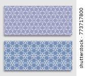 seamless horizontal borders... | Shutterstock .eps vector #773717800