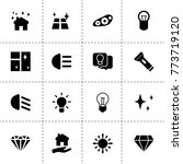 shine icons. vector collection...