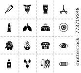 medicine icons. vector...   Shutterstock .eps vector #773719348