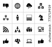 network icons. vector...