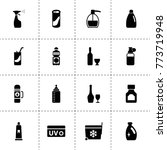 bottle icons. vector collection ...