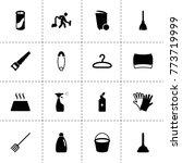 household icons. vector... | Shutterstock .eps vector #773719999