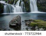mount kirkjufelfoss waterfall   ...   Shutterstock . vector #773722984