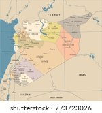 syria map   vintage high...   Shutterstock .eps vector #773723026