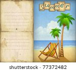 vacation background with chaise ...   Shutterstock . vector #77372482