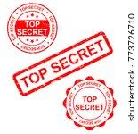 top secret stamp vector... | Shutterstock .eps vector #773726710