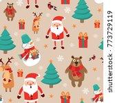 Icons Set Christmas And New...