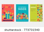 colorful covers with various... | Shutterstock .eps vector #773731540