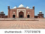 taj mosque in taj mahal complex.... | Shutterstock . vector #773735878