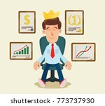 successful businessman   king.  ... | Shutterstock .eps vector #773737930