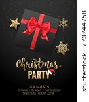 christmas party poster... | Shutterstock .eps vector #773744758