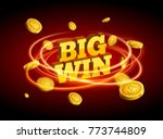 big win gold design prize for... | Shutterstock .eps vector #773744809