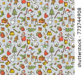 vector christmas and new year... | Shutterstock .eps vector #773744908