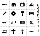 view icons. vector collection... | Shutterstock .eps vector #773747473