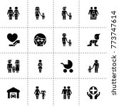family icons. vector collection ... | Shutterstock .eps vector #773747614