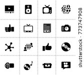 media icons. vector collection... | Shutterstock .eps vector #773747908