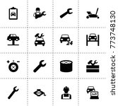 maintenance icons. vector...