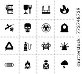 danger icons. vector collection ...