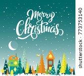 merry christmas template for... | Shutterstock .eps vector #773753140