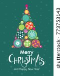 merry christmas template for... | Shutterstock .eps vector #773753143