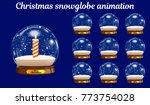 christmas snowglobe animation.... | Shutterstock .eps vector #773754028