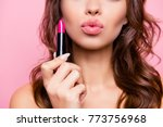 air kiss for you. close up... | Shutterstock . vector #773756968