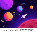 space and planets. journey to... | Shutterstock .eps vector #773759506