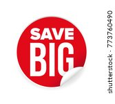 save big sale sticker | Shutterstock .eps vector #773760490