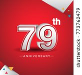 79th anniversary design with...   Shutterstock .eps vector #773762479