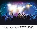 picture of rock concert ...   Shutterstock . vector #773765980