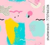 geometric funky pink seamless... | Shutterstock .eps vector #773766136